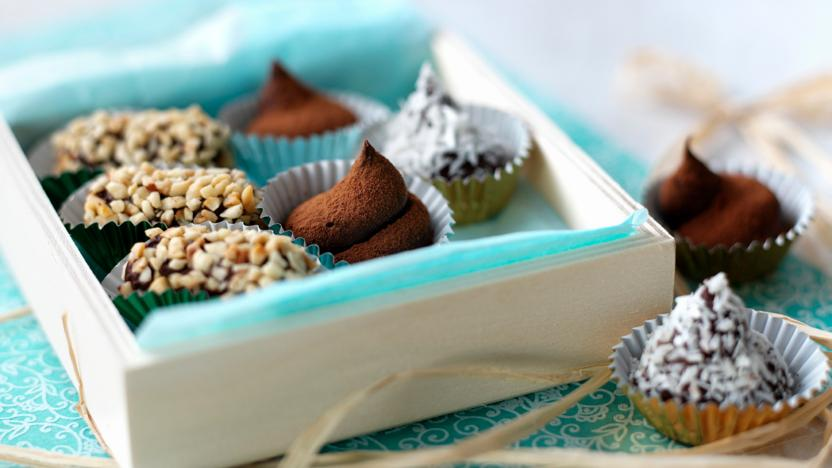 Homemade chocolate truffles recipe