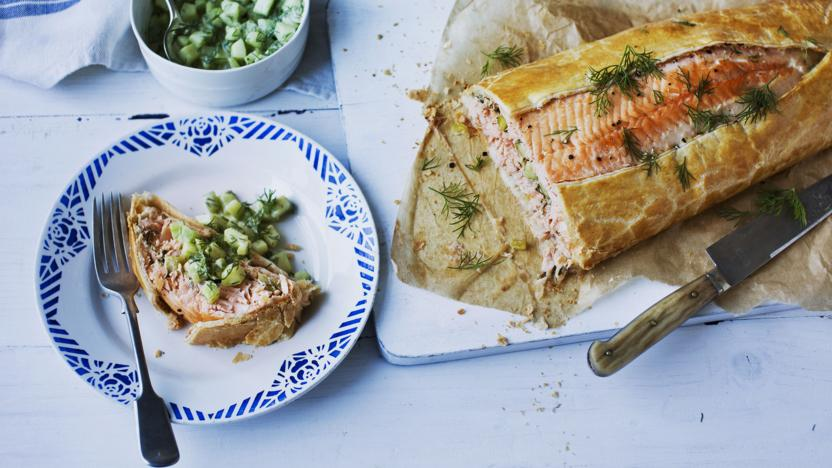 Salmon Wellington Recipe Bbc Food