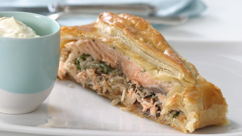 Salmon En Croute Recipe Bbc Food