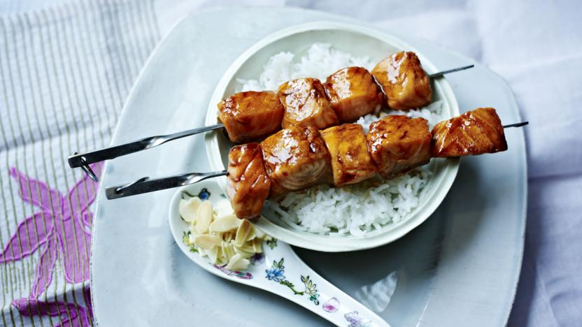 Salmon Yakitori Recipe Bbc Food