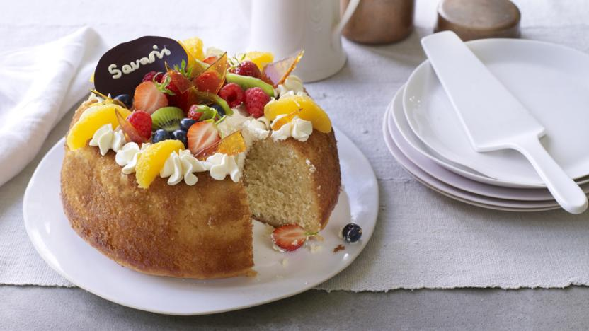 Savarin With Chantilly Cream Recipe Bbc Food