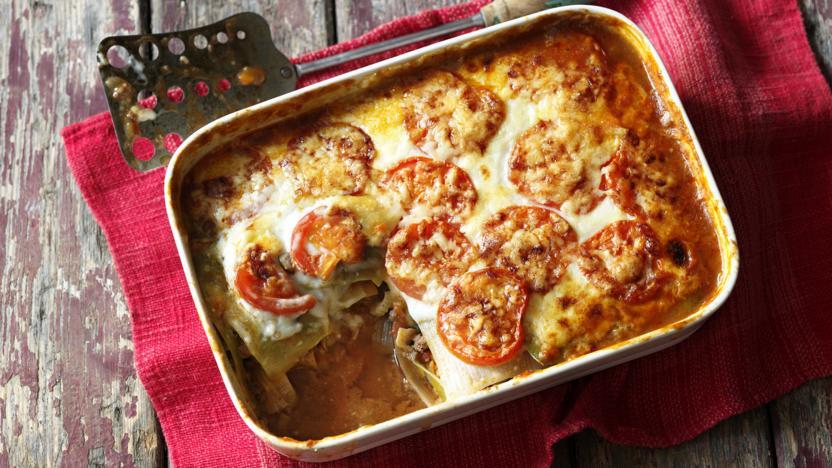 Skinny beef lasagne