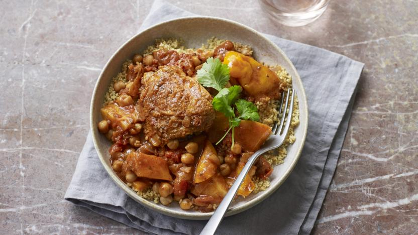 Slow-cooker chicken and vegetable tagine
