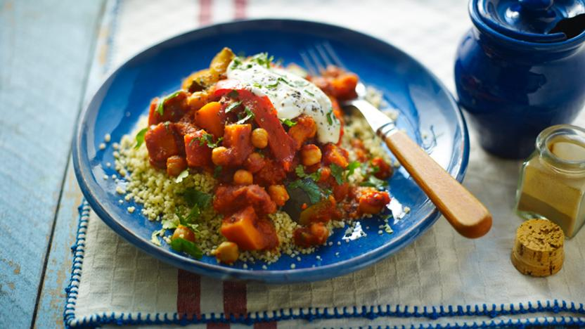 Slow cooker chickpea tagine