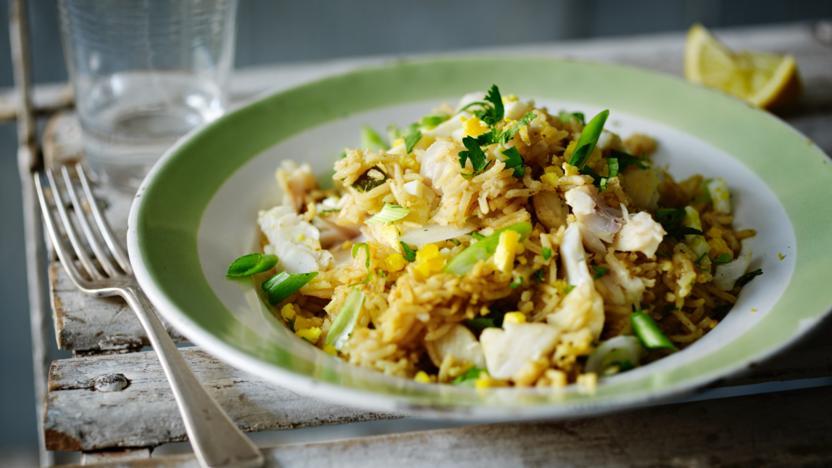 smoked haddock pilaf recipe bbc food