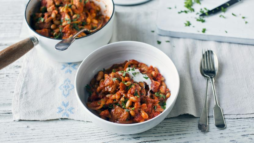 Southern-style pork and beans