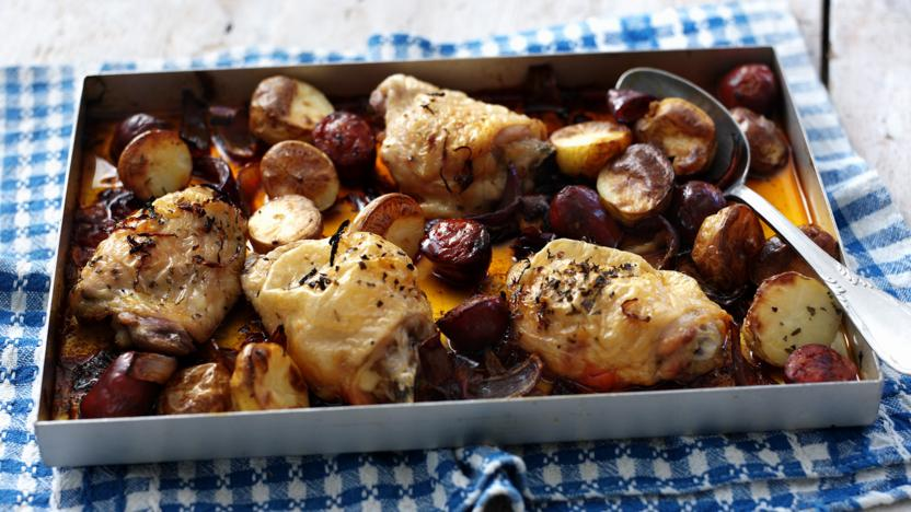 Chicken With Chorizo And Potatoes Recipe Bbc Food