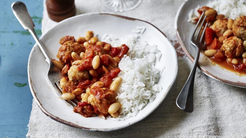 Chorizo and meatball stew