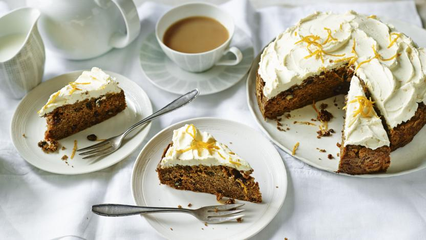 Sugar Free Carrot Cake With Orange Cream Cheese Icing Recipe Bbc Food