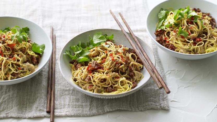 Spicy Sichuan (dan dan) noodles