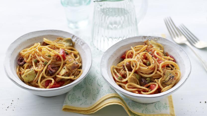 Store cupboard spaghetti