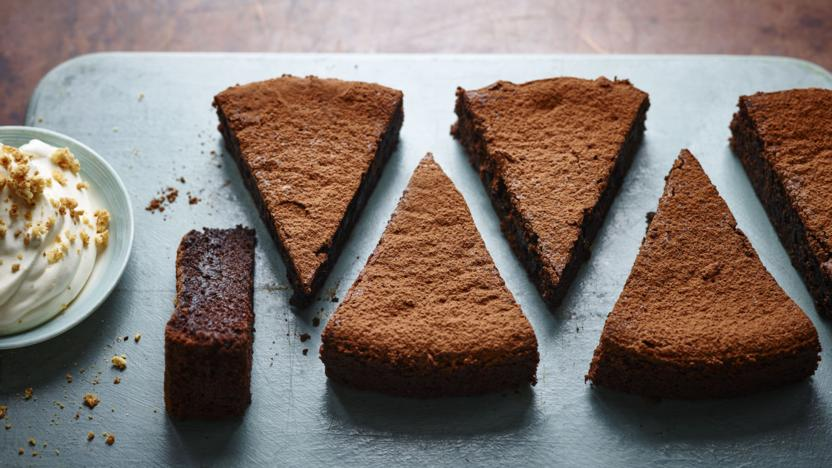 Sunken chocolate amaretto cake recipe bbc food sunken chocolate amaretto cake forumfinder Choice Image