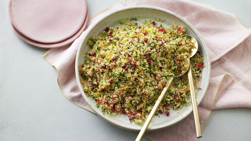 Pomegranate and parsley tabbouleh