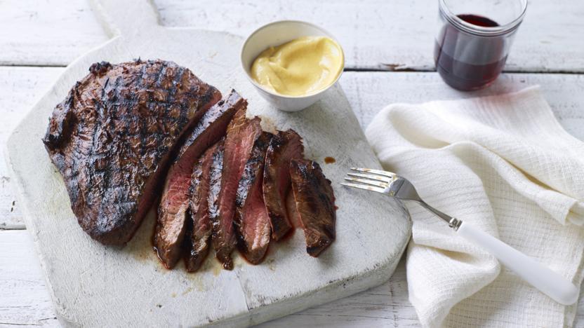 Tamarind-marinated bavette steak