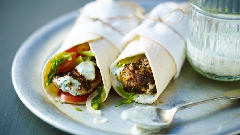 Tandoori Lamb Wrap Recipe Bbc Food