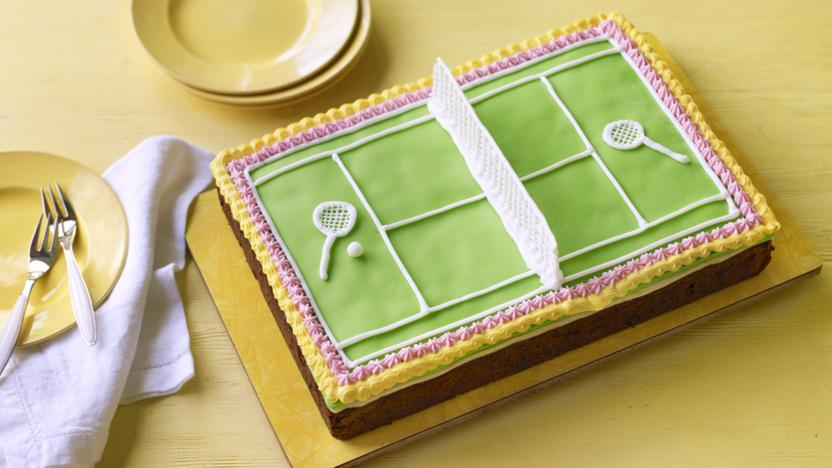 Tennis Ball Birthday Cake