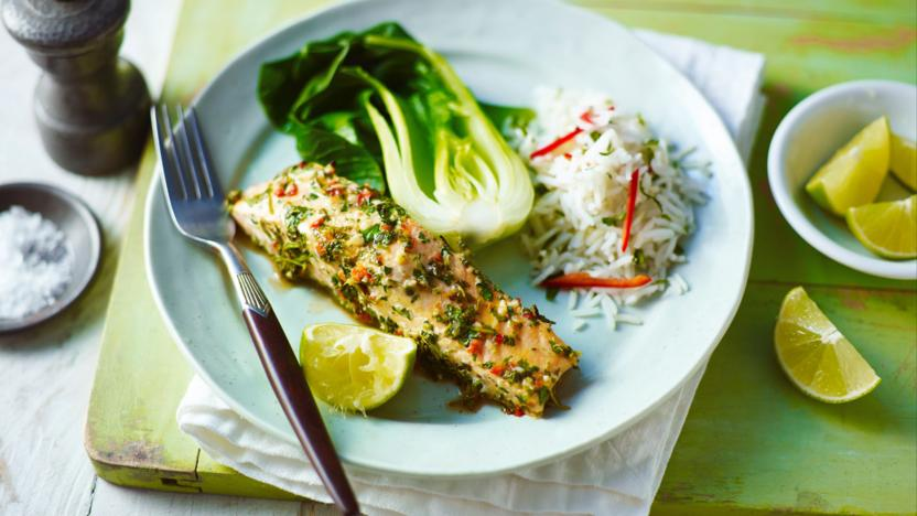 Thai steamed salmon recipe