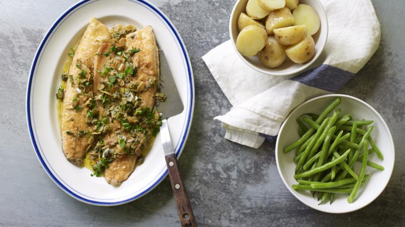 The Hairy Bikers' trout almondine