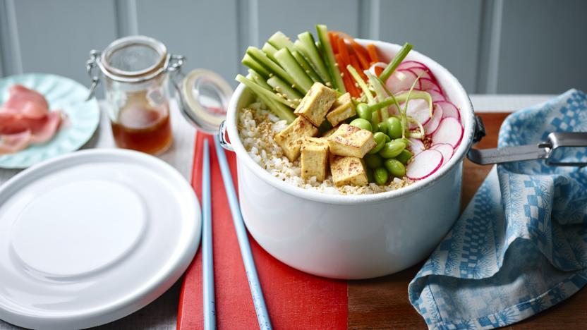 Tofu sushi bowl