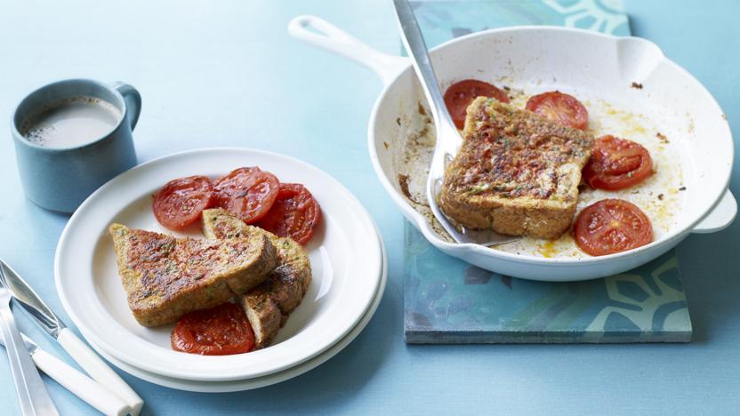 Tomato eggy bread