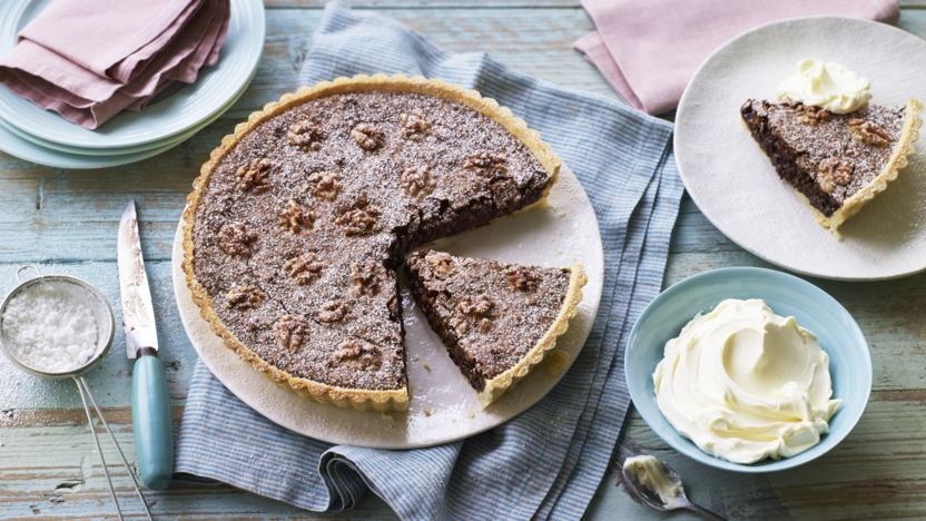 Torta nera (chocolate walnut tart)
