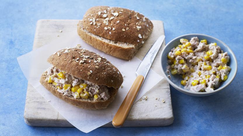 Tuna and sweetcorn sandwich