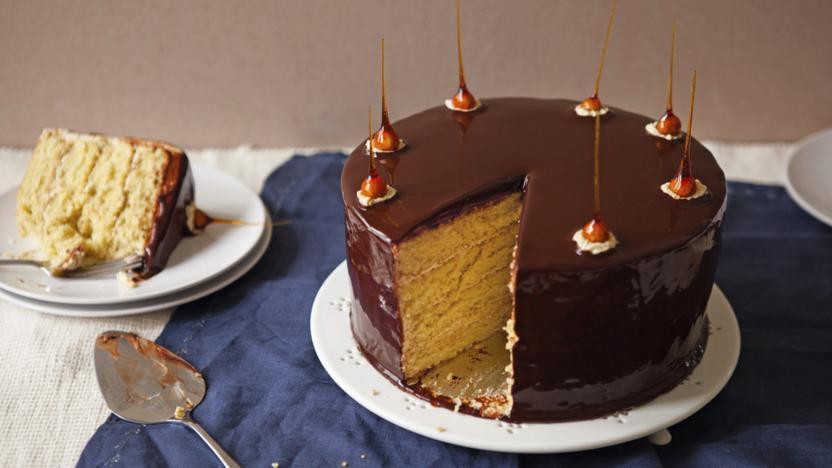 Ultimate indulgence mirror glaze cake