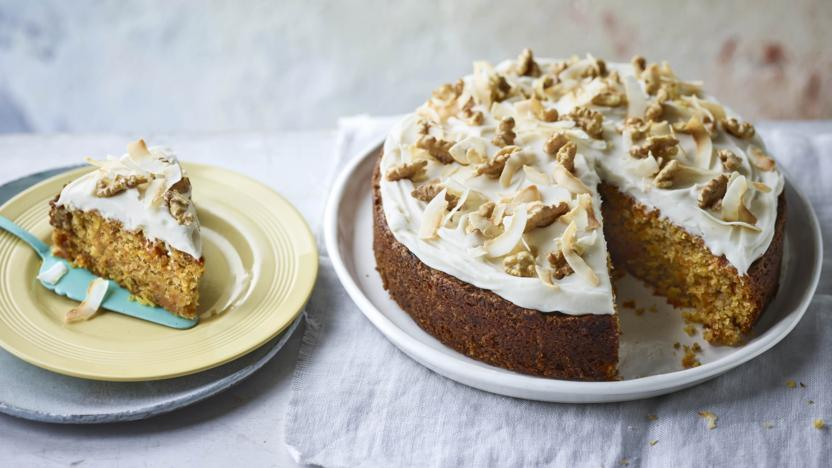 Carrot Cake Recipe Uk Bbc: Vegan Carrot And Coconut Cake Recipe