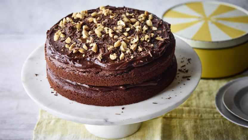 Wondrous Vegan Chocolate Cake Recipe Bbc Food Birthday Cards Printable Nowaargucafe Filternl