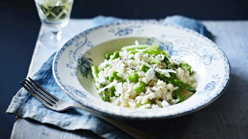 Vegetarian broad bean risotto