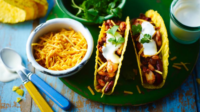 Vegetarian chilli tacos recipe bbc food forumfinder Image collections