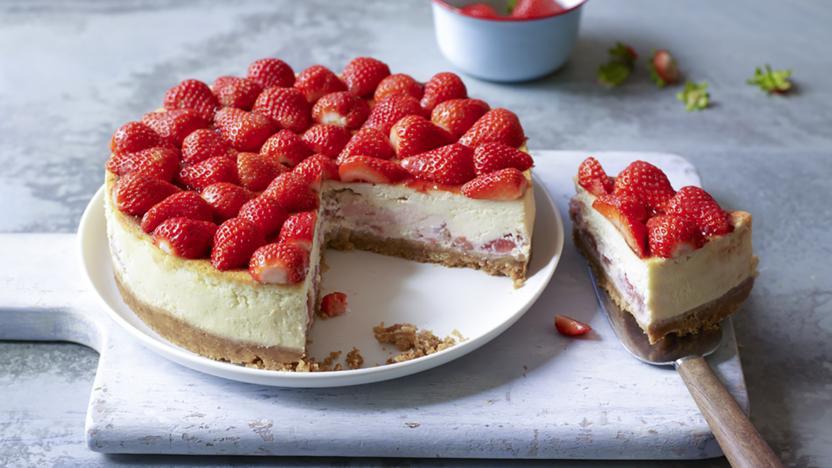 Vodka strawberry cheesecake