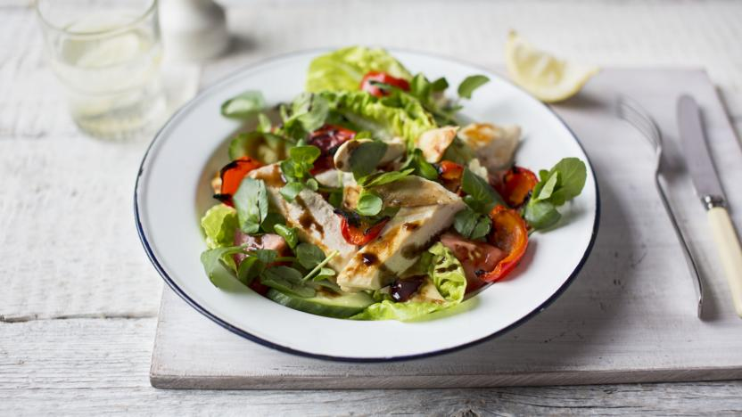 Warm chicken salad recipe bbc food warm chicken salad forumfinder Image collections