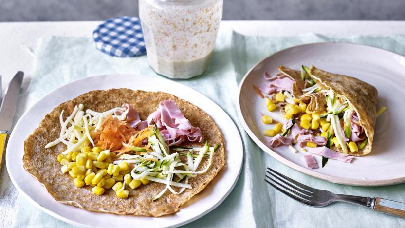 Wholemeal savoury pancakes