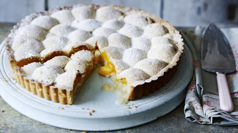 Wobbly apricot tart