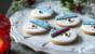 Snowman biscuits (Christmas cookies)