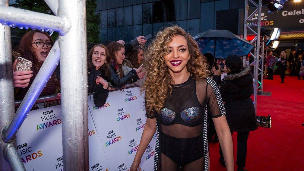 Little Mix on the red carpet before the BBC Music Awards 2015