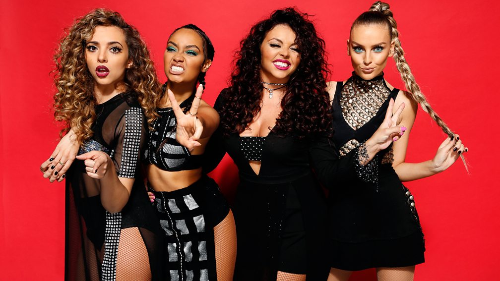 LIttle Mix backstage at the BBC Music Awards 2015