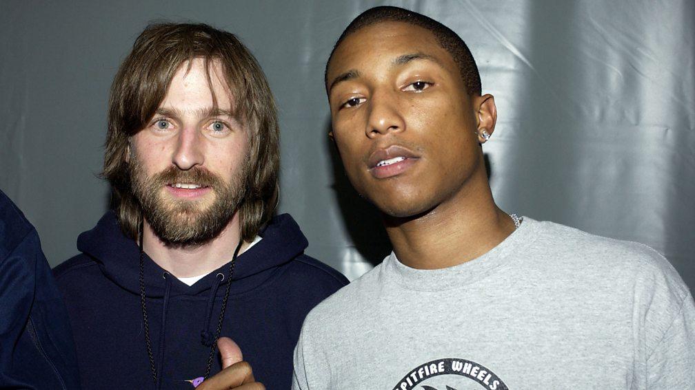 Daft Punk collaborators Spike Jonze and Pharrell in 2002
