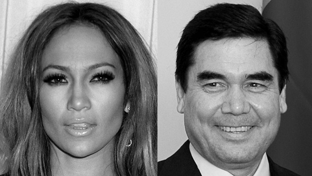 Jennifer Lopez and Gurbanguly Berdimuhamedow
