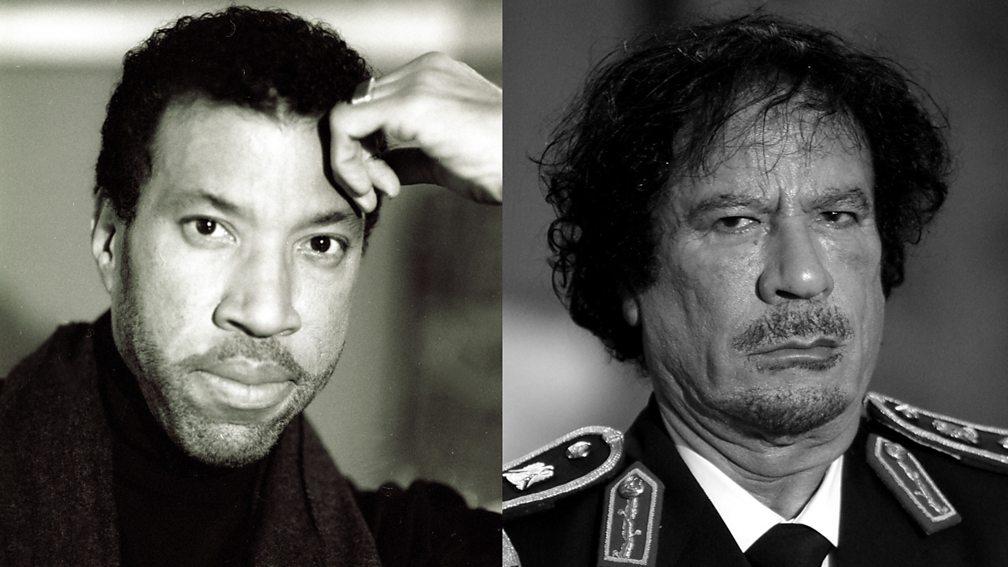 Lionel Richie and Colonel Gaddafi