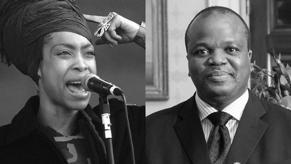 Erykah Badu and King Mswati III
