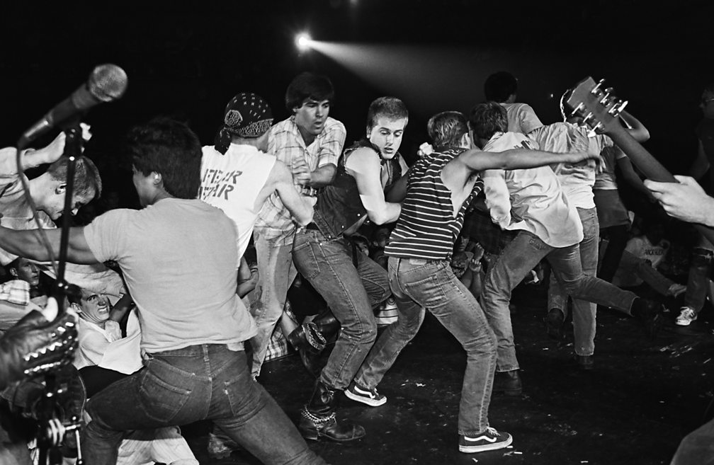 Moshing to punk band Fear at the Country Club, Reseda, California, 1982