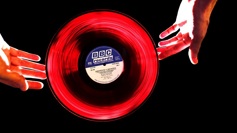 Sound Effects: Death & Horror. In strong light, the vinyl turns red. (Photo: Rob Shiret)