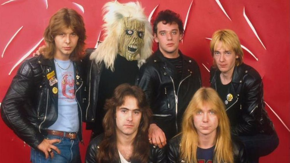 Iron Maiden with Paul Di'Anno (top, second from right)