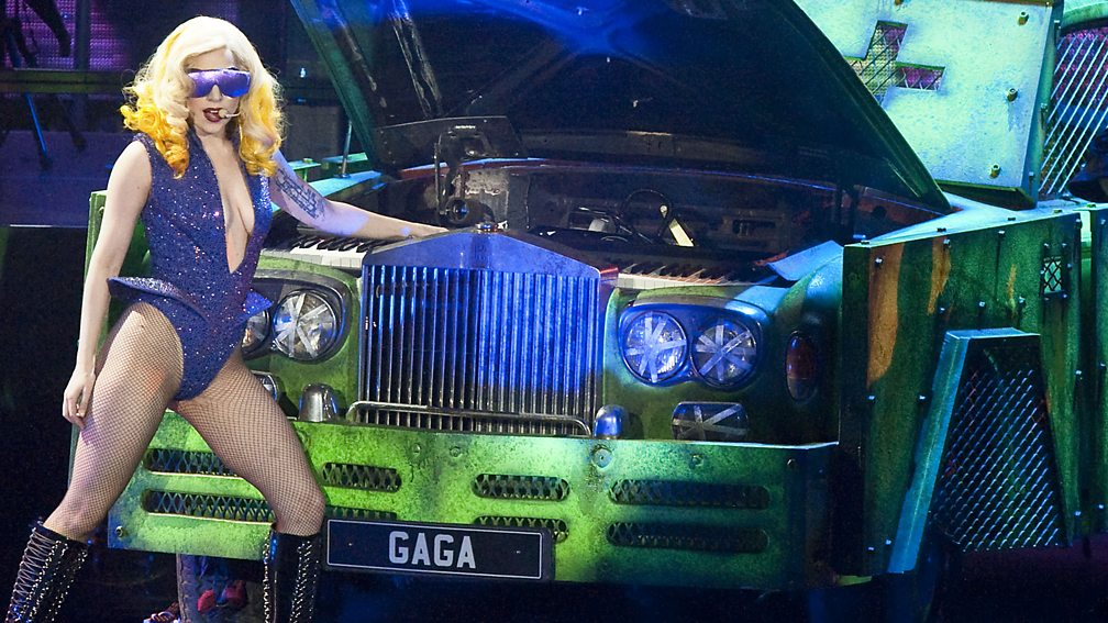 Gaga performs during her Monster Ball, O2 Arena, London, February 2010
