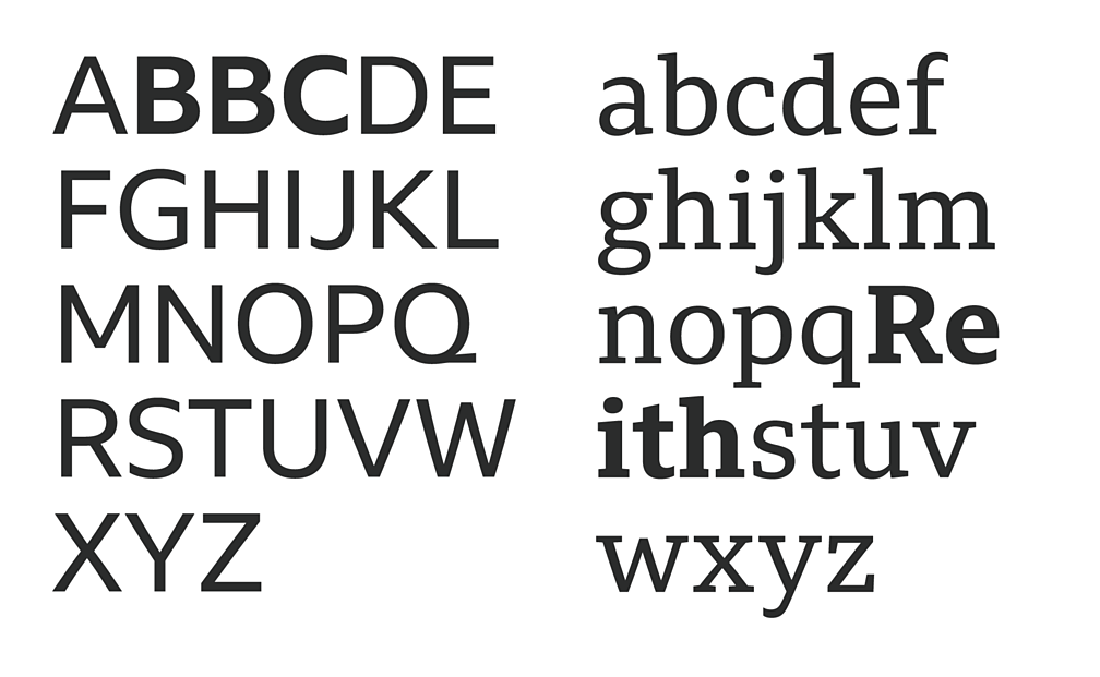 BBC's new font, Reith Sans and Reith Serif