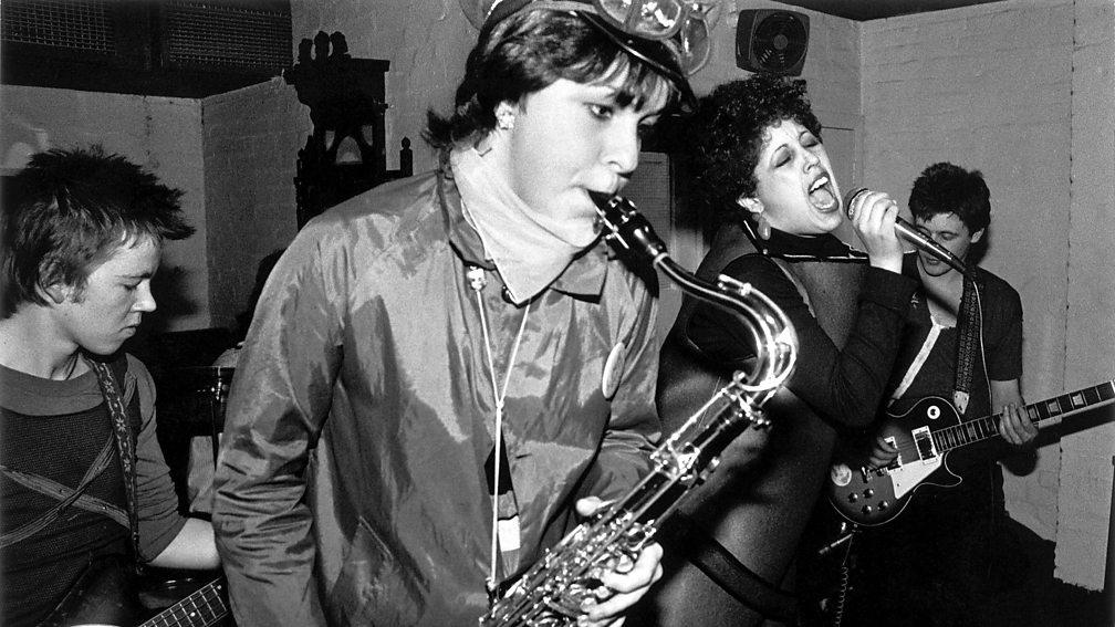 Lara Logic performing with X-Ray Spex, 1977