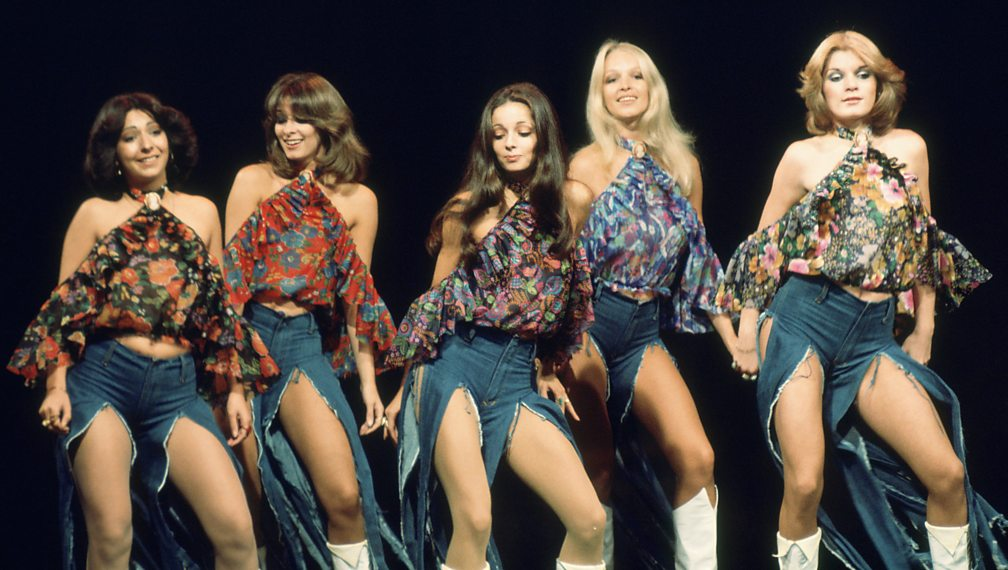 Pan's People on Top of the Pops in the 1970s. Babs is second from right