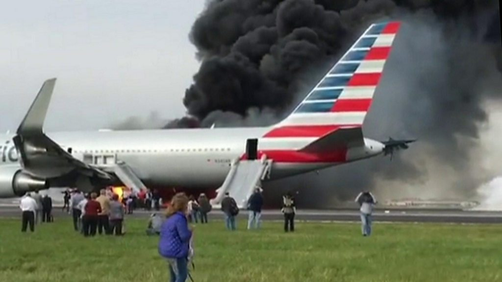 Chicago O Hare Plane Fire American Airlines Jet Aborts